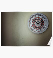 czech retro wall clock Poster