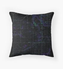 USGS TOPO Map Indiana IN Romney 160236 1961 24000 Inverted Throw Pillow