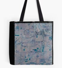 USGS TOPO Map Indiana IN Romney 20100610 TM Inverted Tote Bag