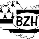 Brittany Flag with BZH by RiverbyNight
