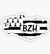 Brittany Flag with BZH Sticker
