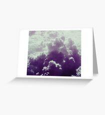 Purple Sky .- Greeting Card