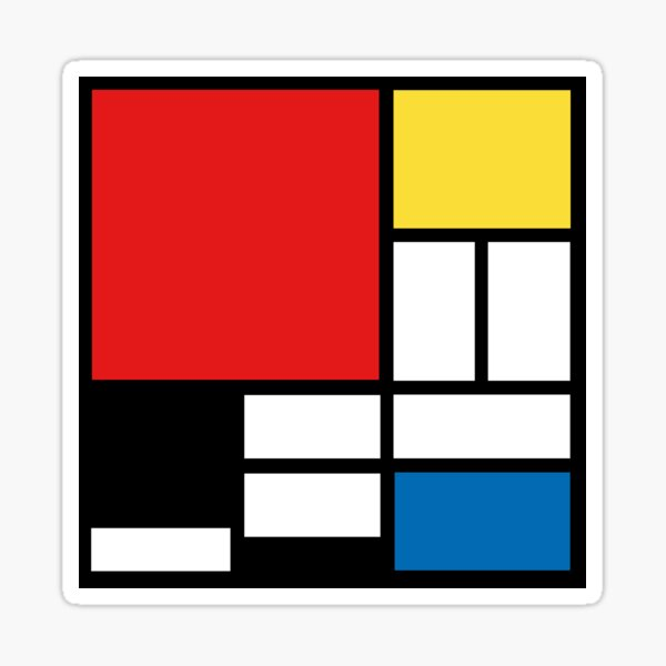 My Mondrian Sticker