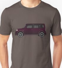Vectored Boxcar Black Cherry T-Shirt