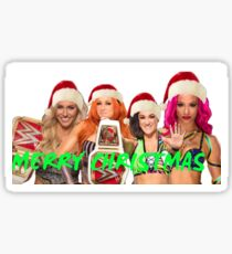 Four horsewoman of WWE Christmas  Sticker