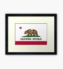 California Flag Framed Print