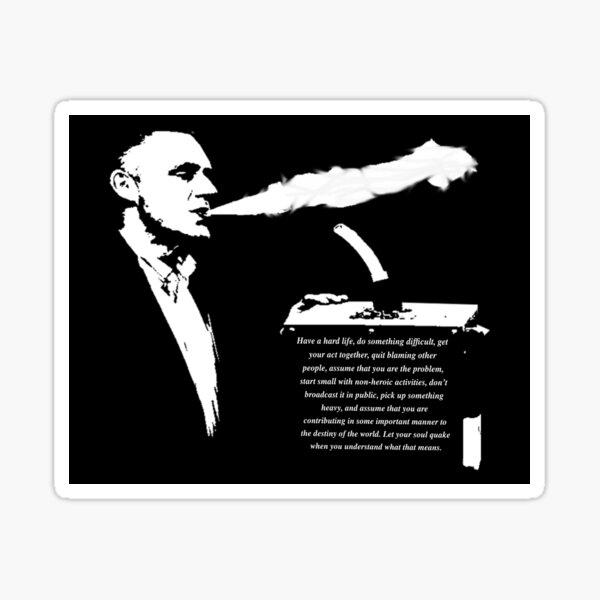 Jordan B Peterson - Motivational Vape Hit Sticker