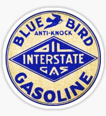 Bluebird Gasoline USA Sticker