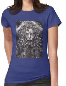 girl, invisible monsters Palahniuk, horror, face, dark, eyes Womens Fitted T-Shirt