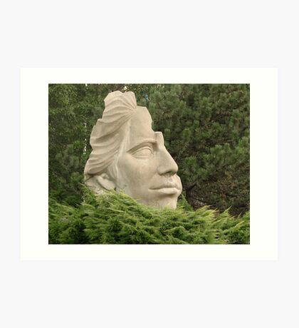 Half Face Statue Art Print