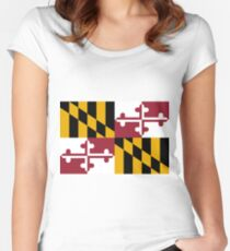 Maryland Flag Women's Fitted Scoop T-Shirt