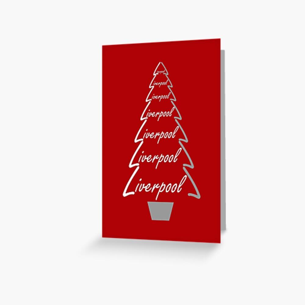 Liverpool Weihnachtskarten Geschenke & Kleidung Grußkarte