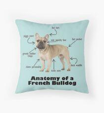Cojín Anatomía de un Bulldog Francés