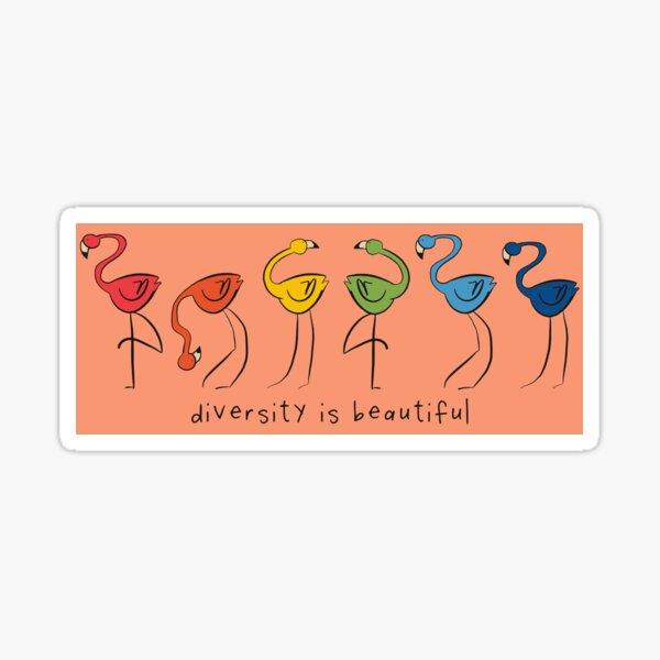 Diversity Flamingoes Sticker