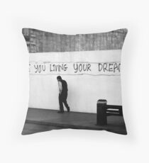 Living (in mono) Throw Pillow