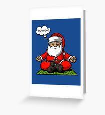 Santa Meditation Christmas Funny Zen Yoga Spiritual Greeting Card