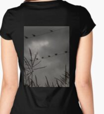 Birds on a Line Women's Fitted Scoop T-Shirt