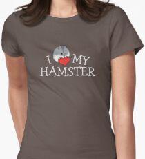 I Love My Hamster Dark Women's Fitted T-Shirt