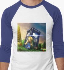 13th Doctor Minifig Men's Baseball ¾ T-Shirt