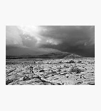 Burren thunderstorm Photographic Print