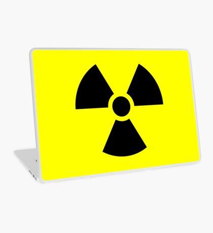 Warning Radiation T Laptop Skin