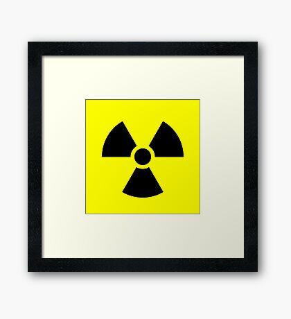 Warning Radiation T Framed Print