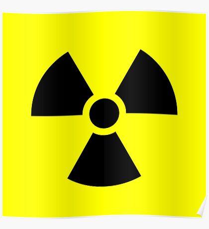 Warning Radiation T Poster