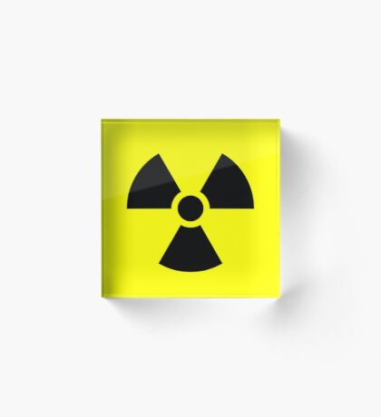 Warning Radiation T Acrylic Block