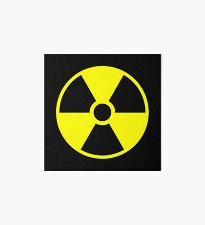 Warning Radiation T Art Board Print