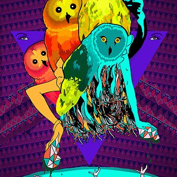 Owls on Planet Plucid by Geist