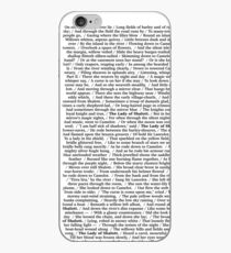 The Lady Of Shalott—Full Text—Alfred Lord Tennyson iPhone Case
