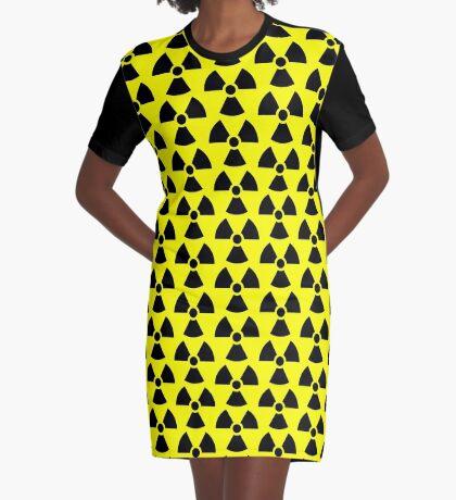 Warning Ionizing Radiation Graphic T-Shirt Dress