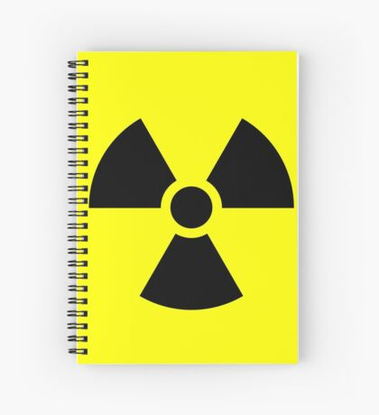 Warning Ionizing Radiation Spiral Notebook