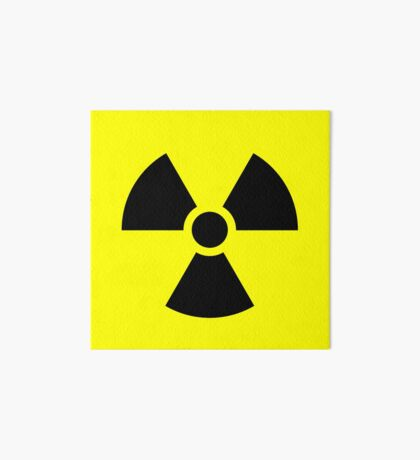 Warning Ionizing Radiation Art Board Print
