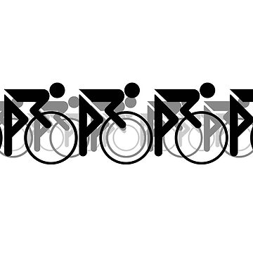 The Bicycle Race 2 Black by learningcurveca