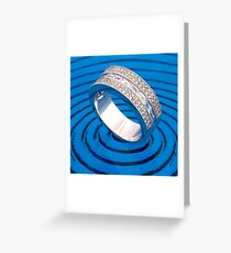 Blue ring  Greeting Card
