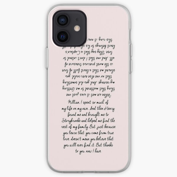 26. Emma and Killian's Wedding Vows (check the other for Samsung models) iPhone Soft Case