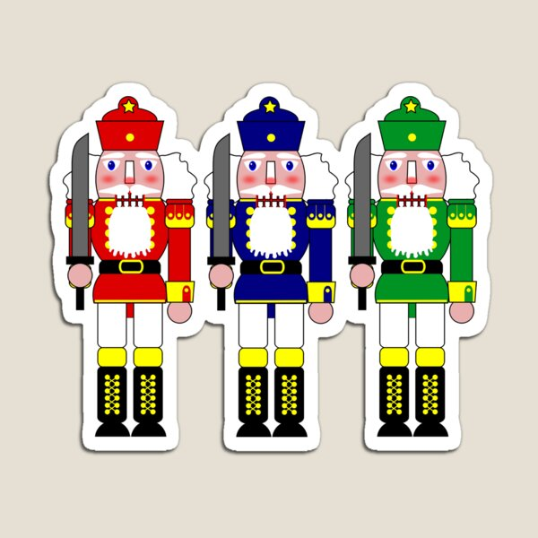 Christmas Nutcracker Soldiers Magnet