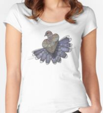 Turtle Dove Fitted Scoop T-Shirt