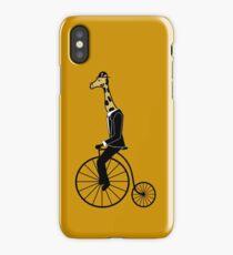 Penny-farthing Giraffe iPhone Case/Skin
