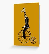 Penny-farthing Giraffe Greeting Card