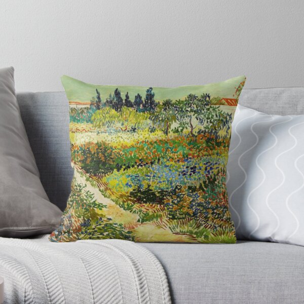 Van Gogh - Garden at Arles Throw Pillow