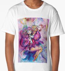 PINK MUSICAL CLOWN WITH OWL Long T-Shirt