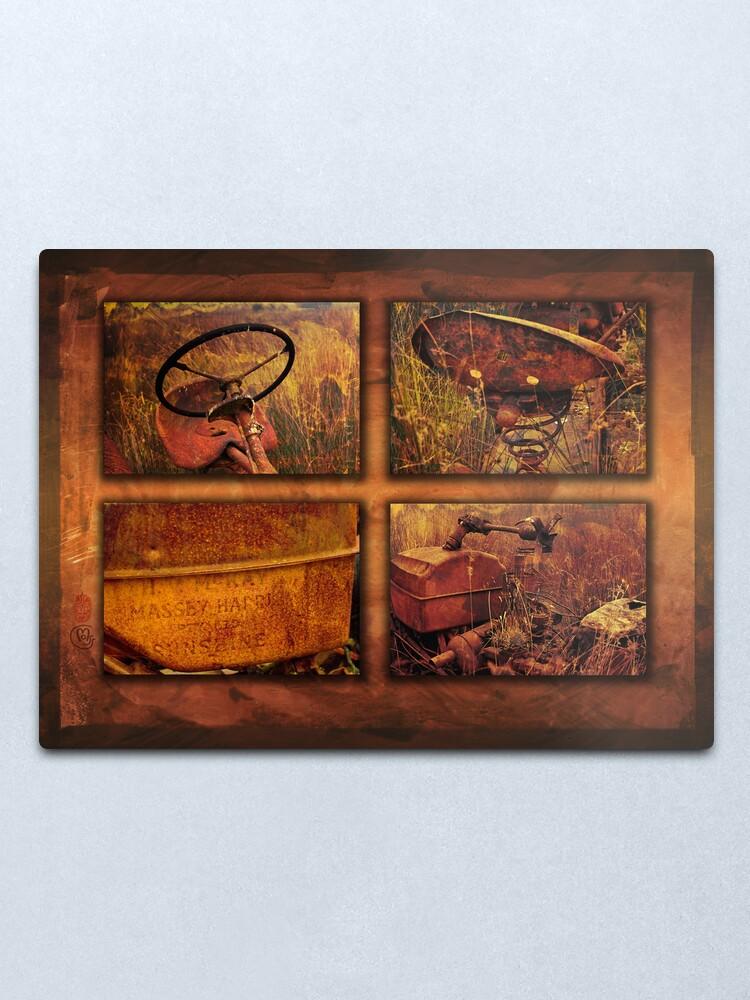 Alternate view of 4 rust version 2 Metal Print