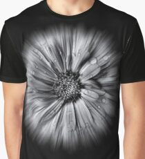Backyard Flowers In Black And White 10 Flow Version Graphic T-Shirt