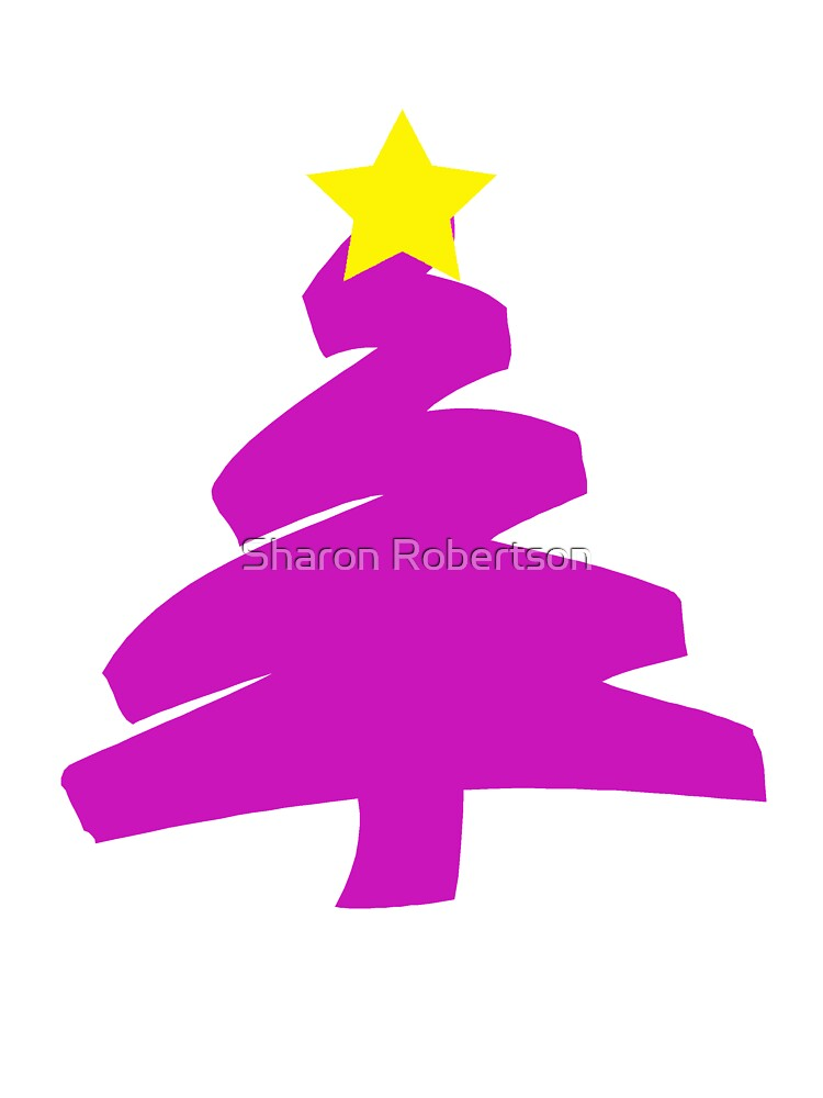 Scribbly Christmas Tree by Sharon Robertson
