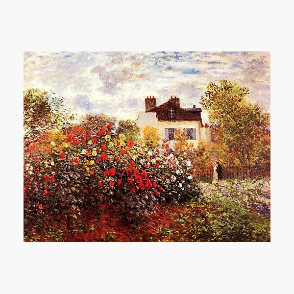 The Artist's Garden in Argenteuil - Claude Monet Photographic Print