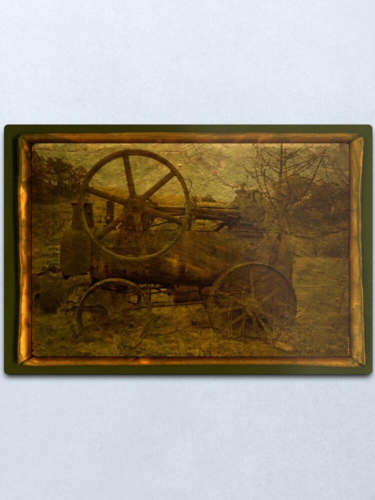 Alternate view of Steam Tractor Metal Print