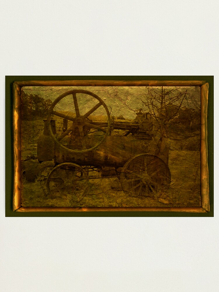 Alternate view of Steam Tractor Photographic Print
