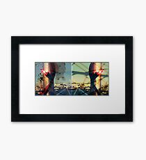 worldline divide Framed Print